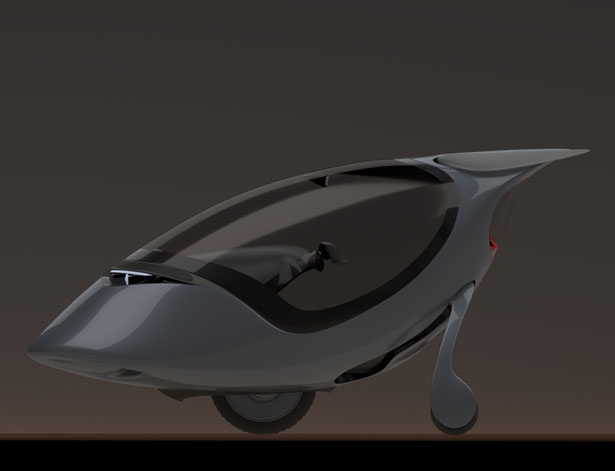 Unigyro II: Single-Seater Robot Vehicle by Morteza Vafadar