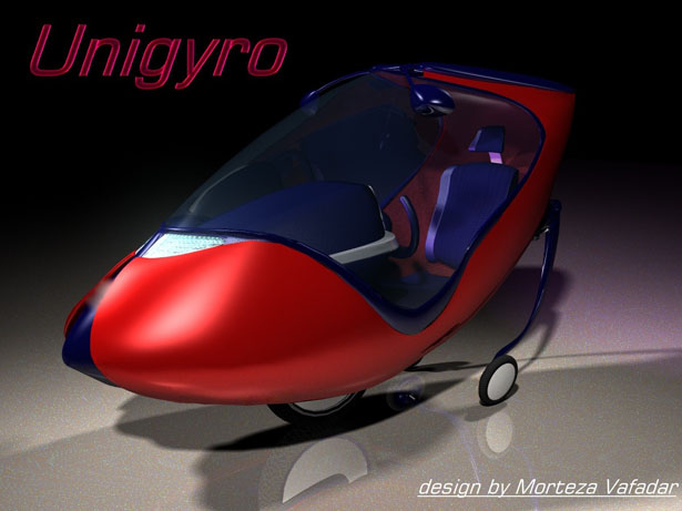 Unigyro Single Seater Vehicle by Morteza Vafadar
