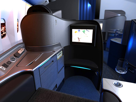 Mark Peurifoy  the designer also mentioned that United FC suite is    United Airlines First Class 767