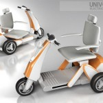 Elderly or Physically Challenged People Can Ride This Universal Electric Scooter