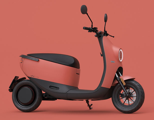 Unu Electric Scooter Second Generation with BOSCH Electric Motor