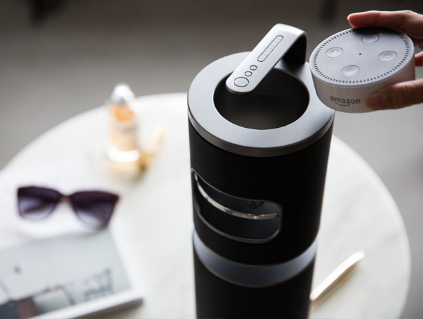 UPstage 360: 360-degree Smart Speaker in Hi-Res Audio by Level 10