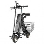 URB-E Black Label City Edition Foldable Electric Scooter with Rear Basket