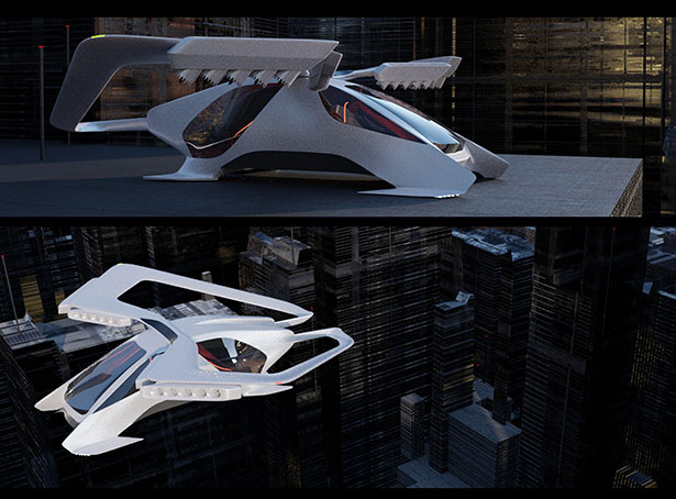 Futuristic AVEM Urban Air Mobility for The Year of 2050 by Hemanth Kumar