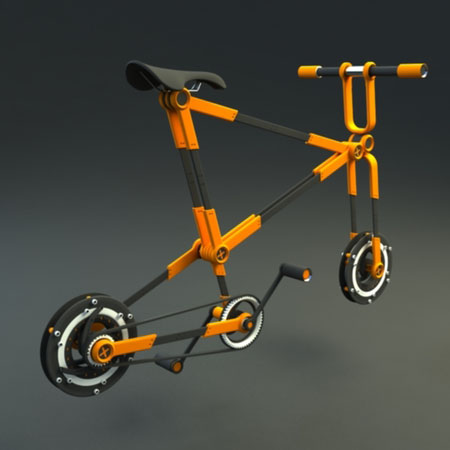 urban bike with folding wheel system