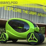 Stylish Urban.Pod Compact Vehicle For Convenient Driving in Busy City Traffic