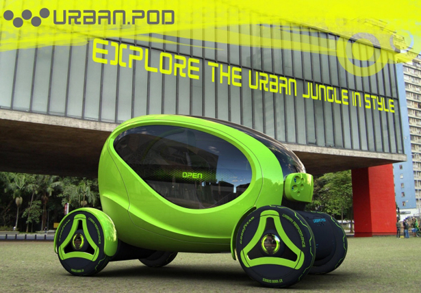 Urban.Pod Compact Vehicle To Explore Urban Jungle by Paulo Encarnação