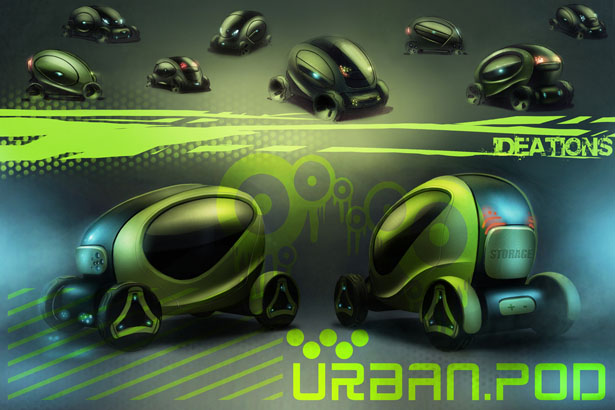 Urban.Pod Compact Vehicle To Explore Urban Jungle by Paulo Encarnacao