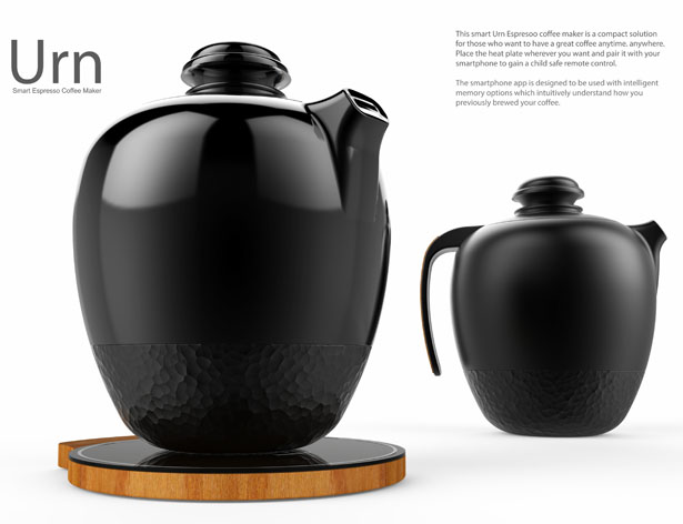 Urn - Smart Espresso Coffee maker by Akshay Khandelwal