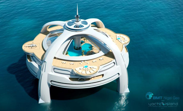 Utopia Yacht - A Vision of Future Yacht by BMT Nigel Gee and Yacht Island Design