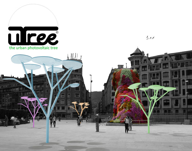 uTree Urban Photovoltaic Tree by Xabier Perez de Arenaza