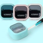 Compact UVC Ultra Wave Toothbrush Sterilizer with Rechargeable Battery