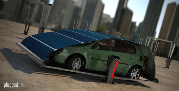 V-Tent Solar Powered Charging and Protecting Unit by Hakan Gursu