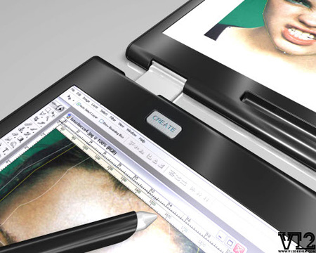 v12 dual touch screen laptop concept