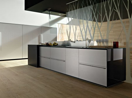 High Tech Titanium Kitchen from Valcucine - Tuvie