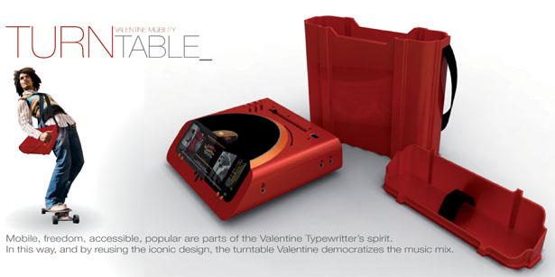 Valentine Turntable by Elodie Delassus