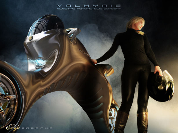 Valkyrie Electric Motorcycle Concept by Saad Alayyoubi