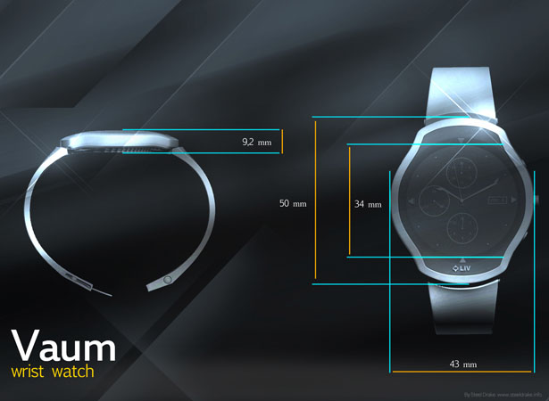 Vaum Wrist Watch by Steel Drake
