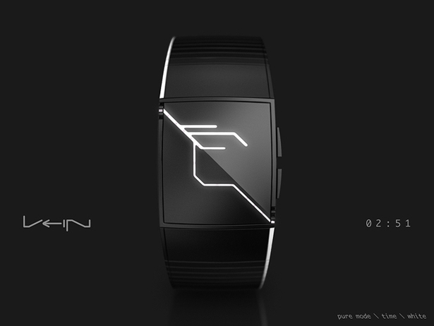 Futuristic VEIN Watch Displays Time in Beautiful Capillaries Like LED Lights