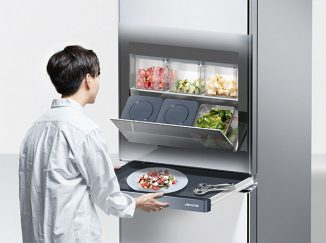 Venine Refrigerator Allows You to Knock on Its Surface To See What's Inside