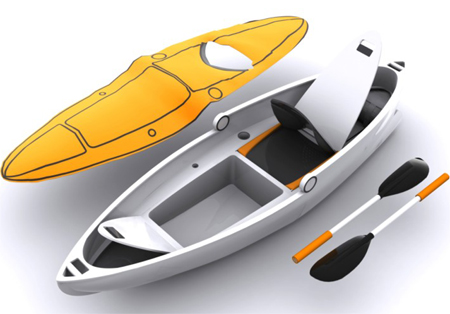verseka transformable boat concept