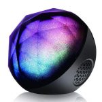 Affordable VersionTECH Portable Colorful LED Ball Speaker with a Mini Remote Control
