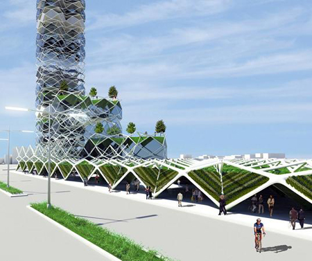 vertical park for mexico city