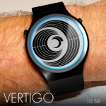 Vertigo LCD Watch Design by Scheffer Laszlo