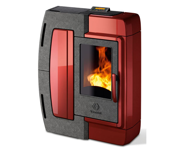 Vescovi ambra pellet stove the noptali lounge - Pellet stoves for small spaces set ...