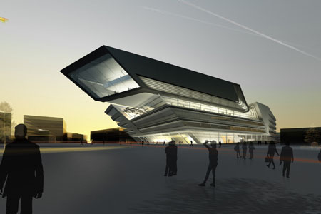vienna library and learning center by zaha hadid