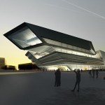 Library and Learning Center at The University of Economics and Business in Vienna, Austria by Zaha Hadid