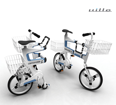 Ville Folding Bike Doubles As A Shopping Cart