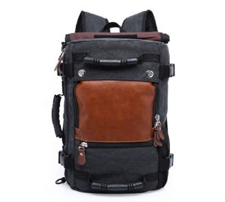 Unisex Vintage Canvas Sporty Backpack with Wear-Resistant Material