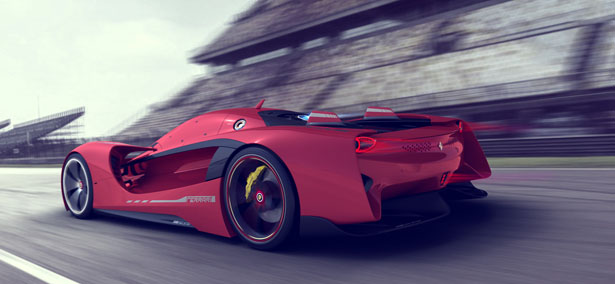 Vision Gt Concept Car Proposal For Ferrari By Peter Spriggs Tuvie