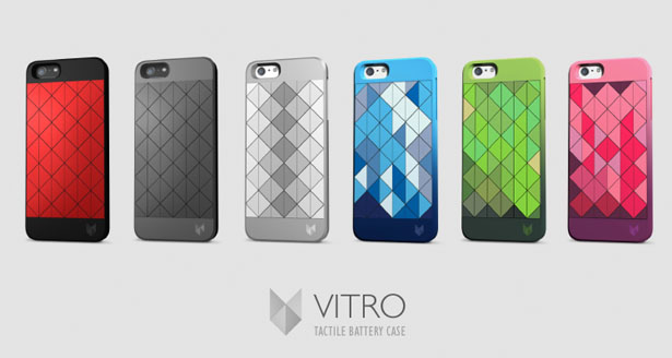 Vitro Tactile Battery Case Reacts to A Notifications to Get User's Attention