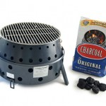 Volcano 3 Collapsible Grill Allows You to Use Propane, Charcoal, or Wood to Cook Your Meal