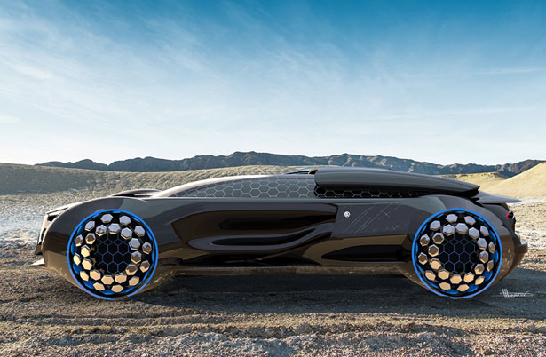 Futuristic Volkrun Concept Racing Car For Volkswagen Design