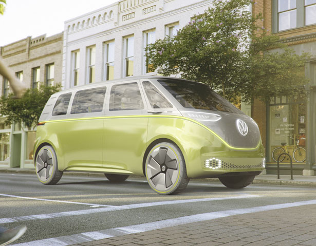 Futuristic Volkswagen I.D. BUZZ Concept Microbus Could Bring Back Glorious Days of Microbus