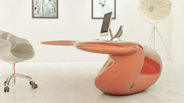Volna Floor-Mounted Table by Nuvist