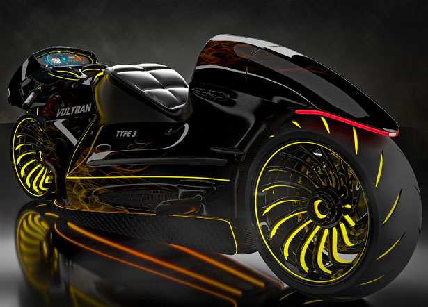 Porsche Custom Motorcycle: Inspired By Lamborghini And Porsche, Vultran Type 3