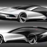 Futuristic Volkswagen Viseo Concept Car by Marc Kirsch