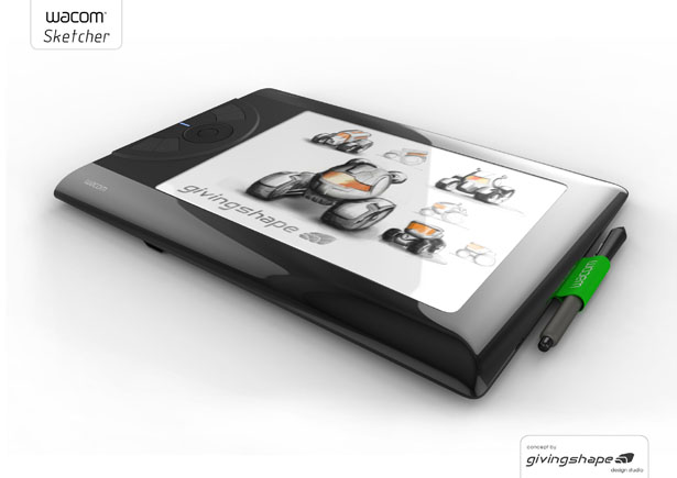 Wacom Sketcher Digital Sketchpad Concept by Massimo Battaglia
