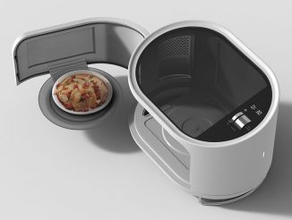 Waiter Microwave Oven Concept Swings Out to Serve Your Food Elegantly – No More Bend Down