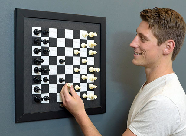 Wall-Mounted, Magnetic Chess Set
