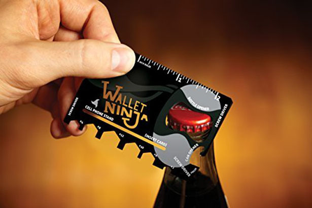 Wallet Ninja 18 in 1 Multi-Purpose Credit Card Size Pocket Tool