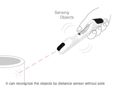 wand for the blind with sensor