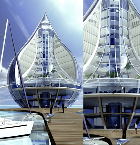 Water Building Resort Design Was Inspired by The Form of a Drop of a Water