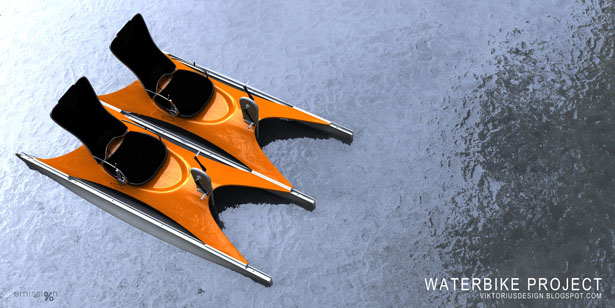 Ultra Light Single Seater Weight Waterbike Concept