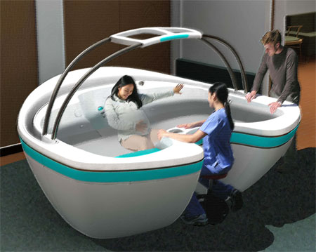 Waterbirth Vessel Concept to Support Mommy Feels Free, Comfortable, and Safe