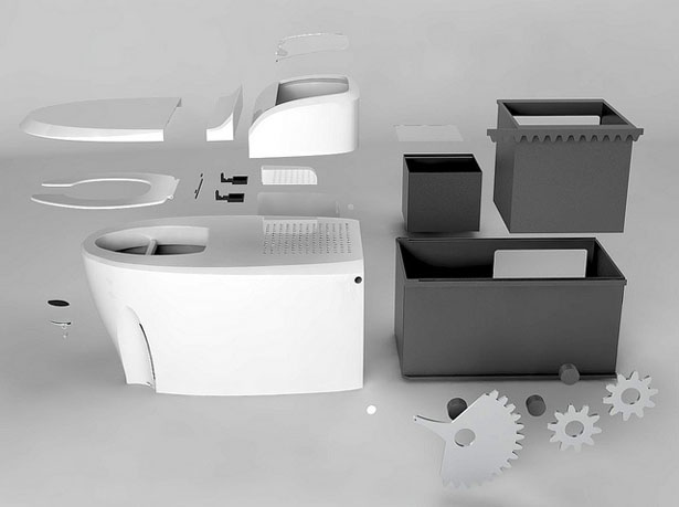 Waterless Toilet Eliminates the Use of Water for Human Wastes Disposal